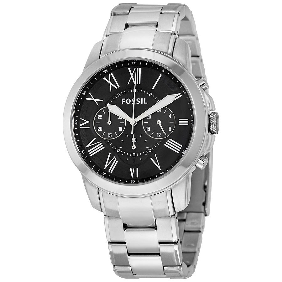 Fossil Men's Chronograph Grant Stainless Steel Bracelet Watch FS4736
