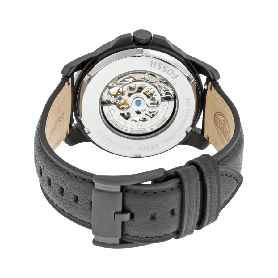 Fossil Happyshopping247 Me3138 Grant Sport Automatic Skeleton Dial Black Leather Watch Pic 3