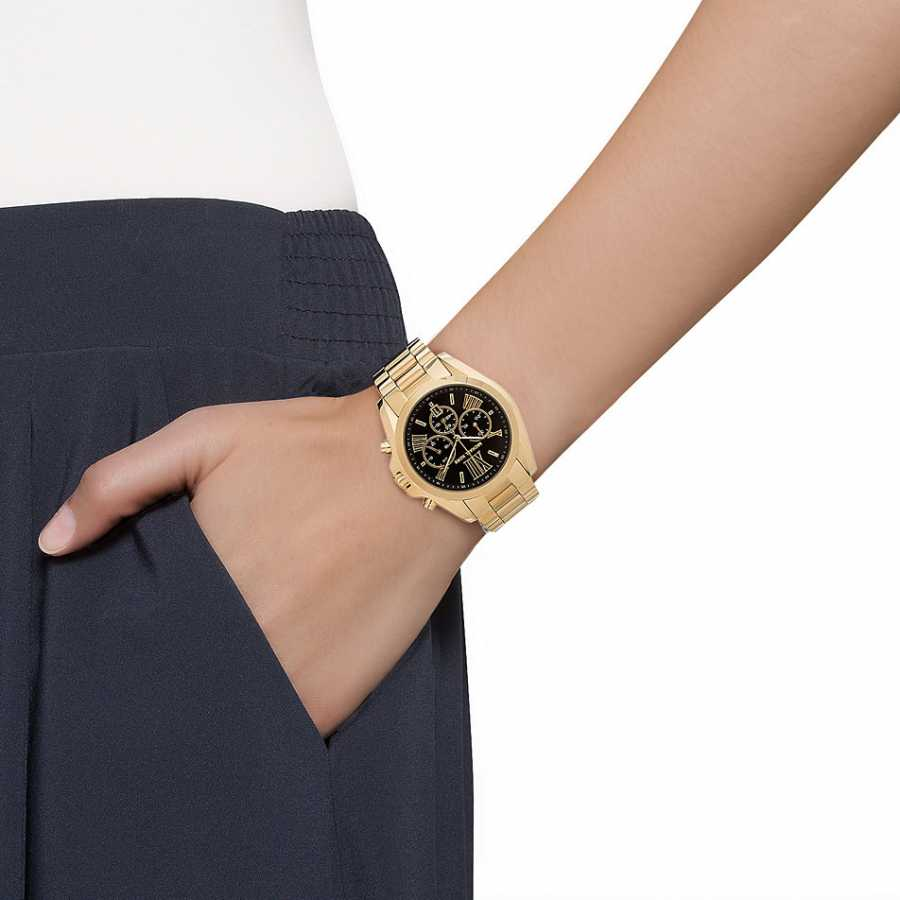 Michael Kors Women S Chronograph Bradshaw Gold Tone Stainless Steel Bracelet Watch Mk5739