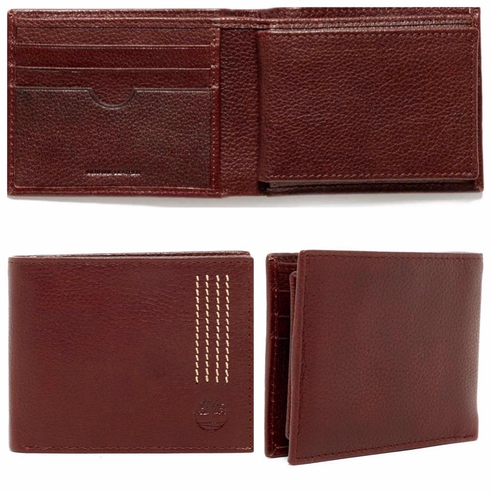 Timberland Leather Sport Quad Passcase Bi-Fold Wallet