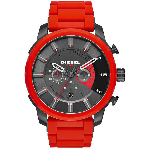 Diesel Men's Stronghold Red Chronograph Watch DZ4384