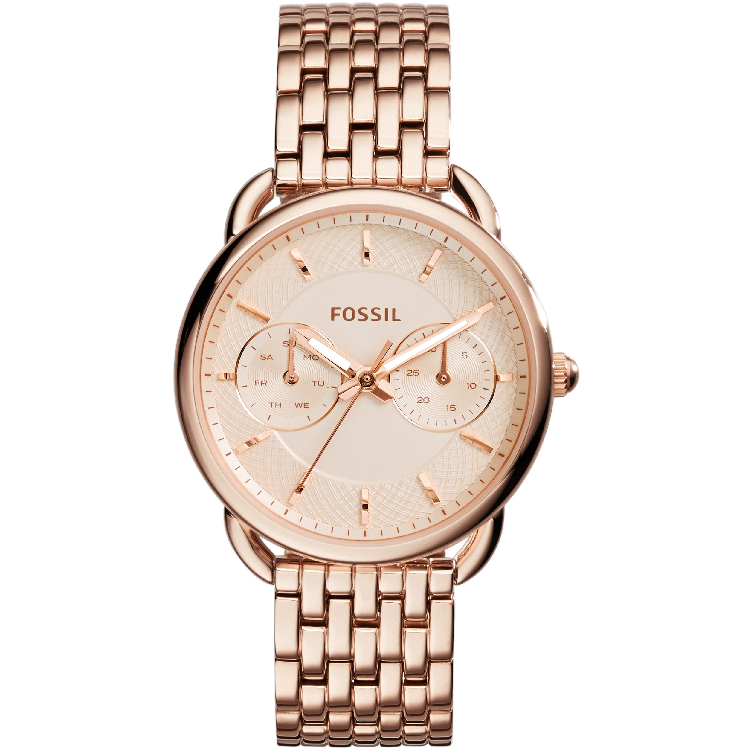 Fossil Women's Rose Gold Tailor Multi-Function Steel Watch ES3713