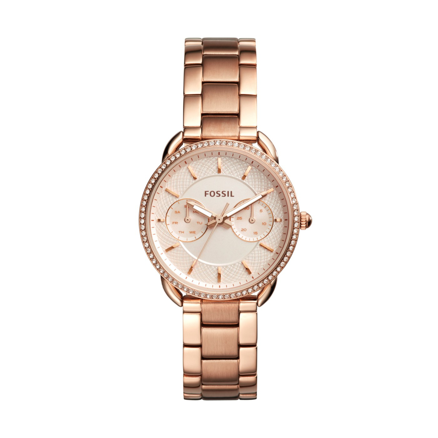 Fossil Women's Tailor Rose Gold Tone Steel Watch ES4264
