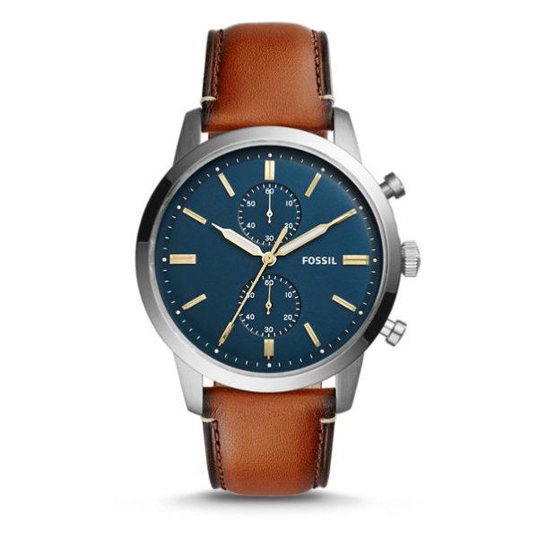 Fossil Men's Chronograph Townsman Light Brown Leather Strap Watch FS5279