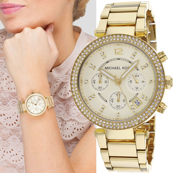Michael Kors Women's Crystal Face Chronograph Watch MK5354