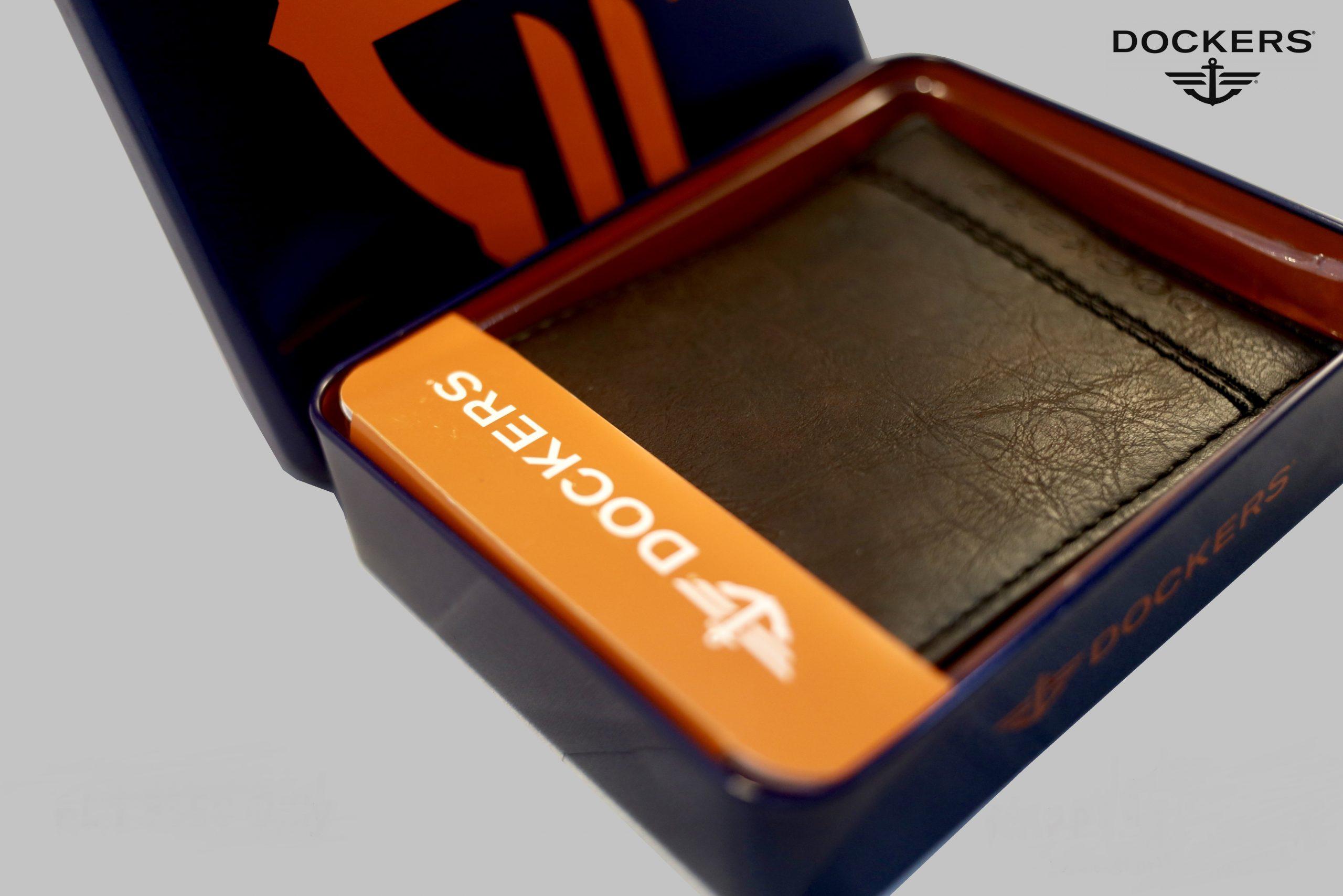 Dockers Men's Leather Wallet Bi-fold Brown