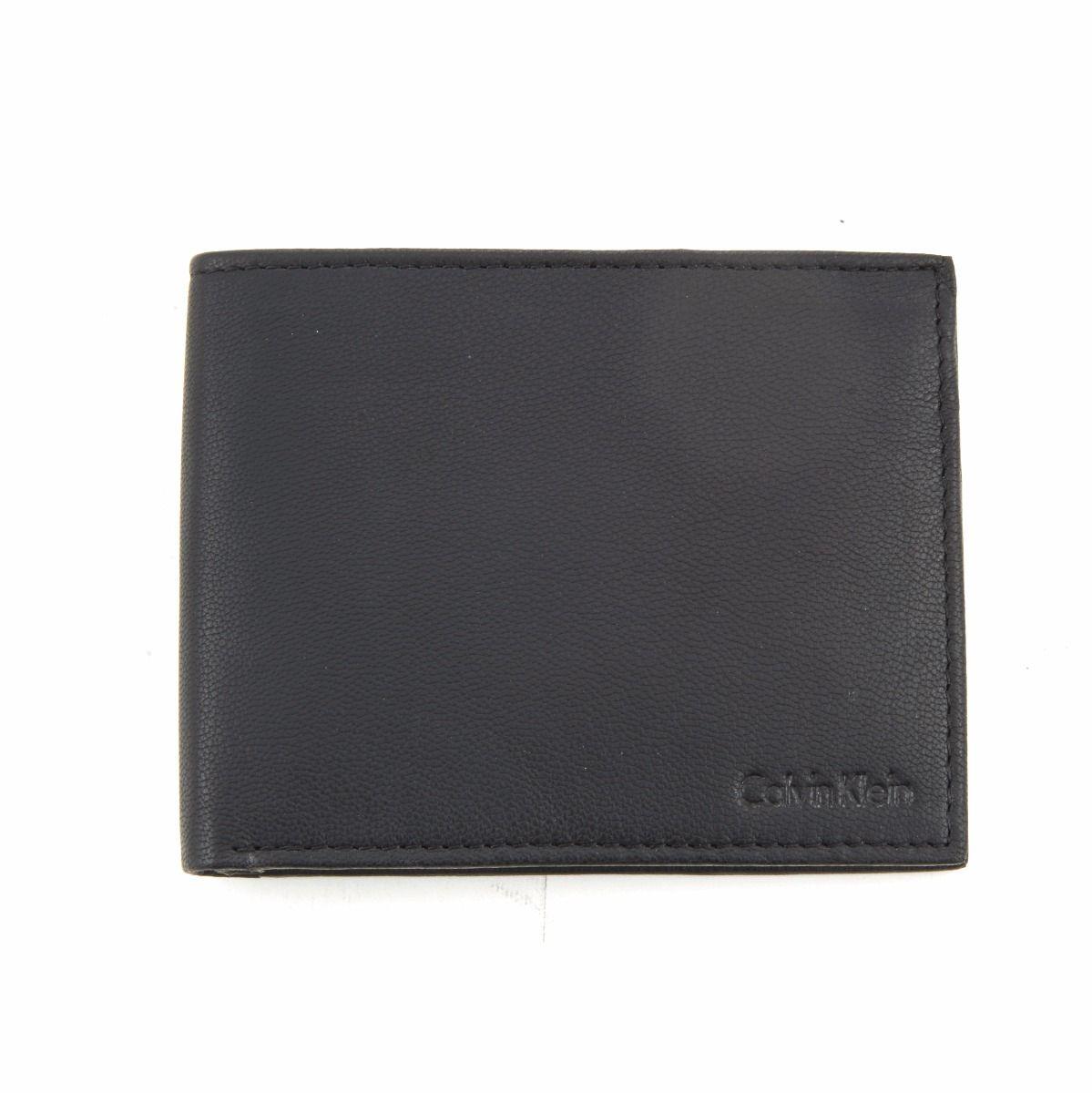 Calvin Klein Men's Bi-fold Leather Wallet Black