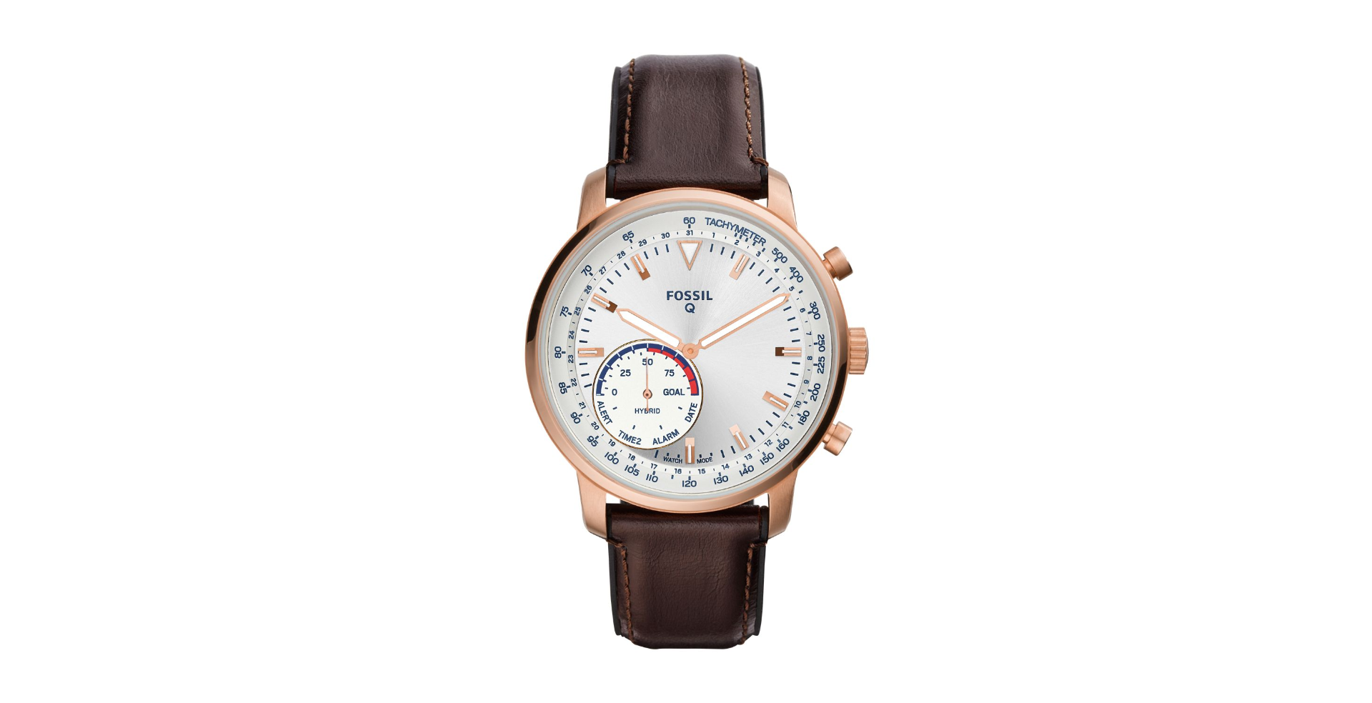 Fossil Men's Hybrid Smartwatch- Goodwin Brown Leather FTW1172P