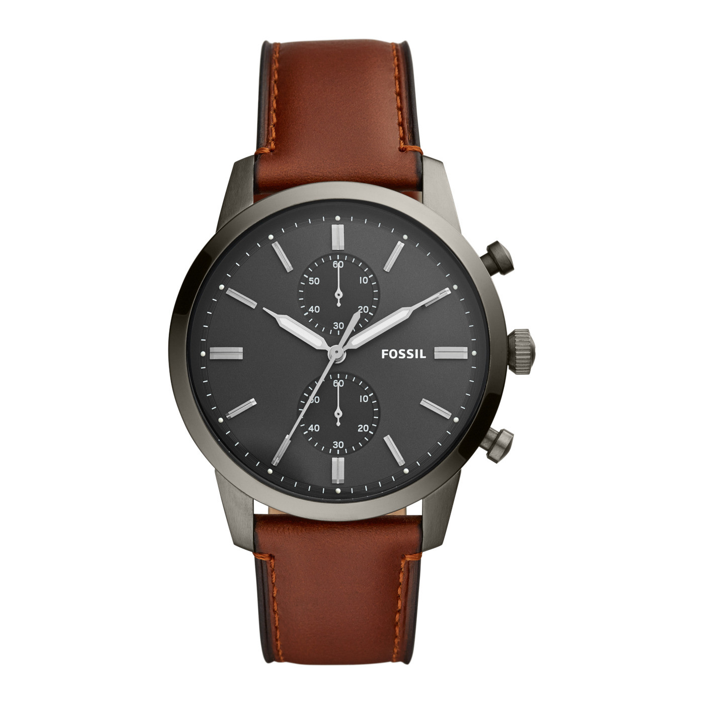 Fossil Men's Townsman Chronograph Amber Leather Watch FS5522