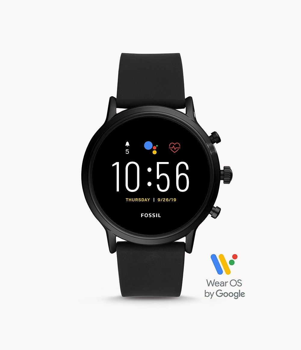 Fossil Men's Gen 5 Smartwatch The Carlyle HR Black Silicone FTW4025