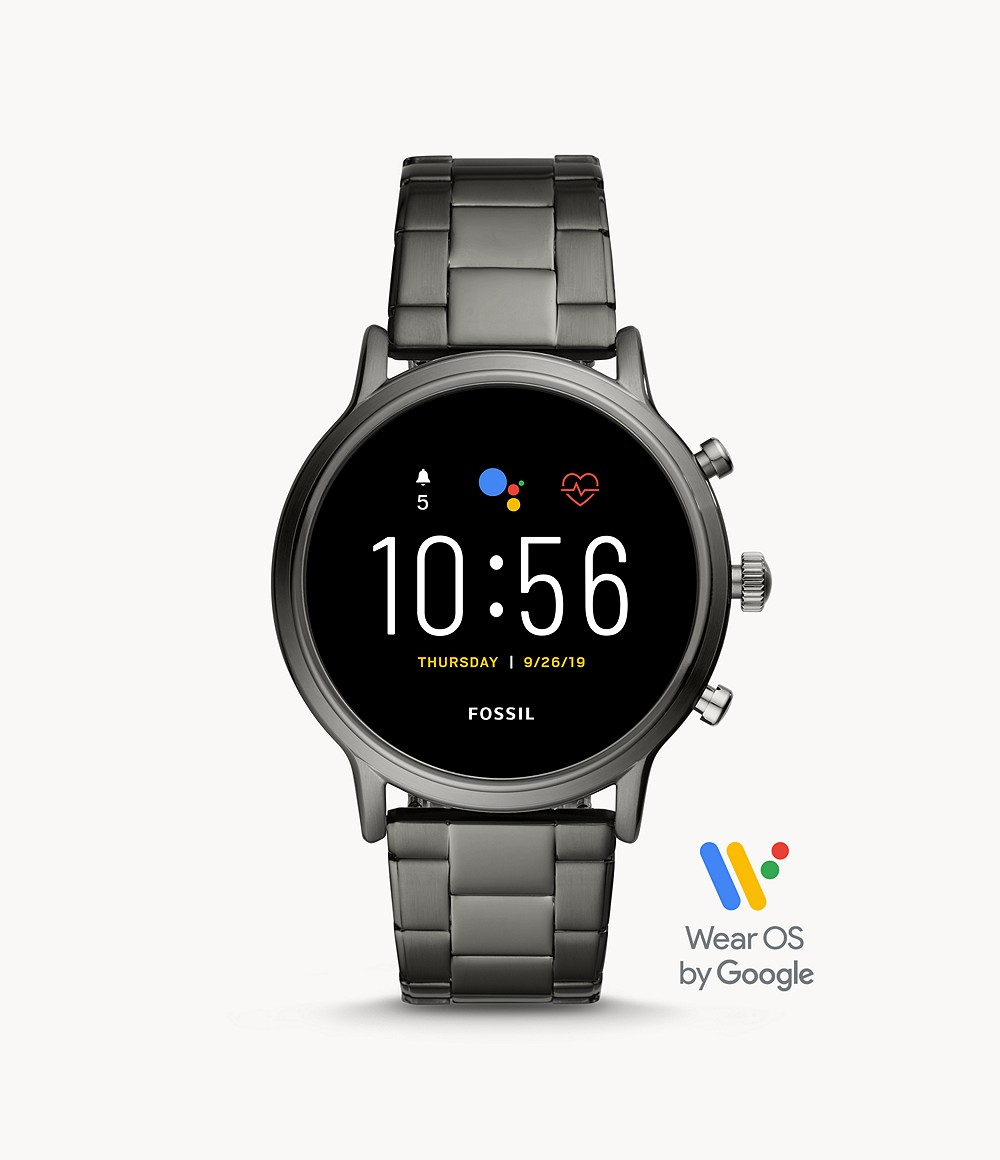 Fossil Men's Gen 5 Smartwatch The Carlyle HR Smoke Stainless Steel FTW4024