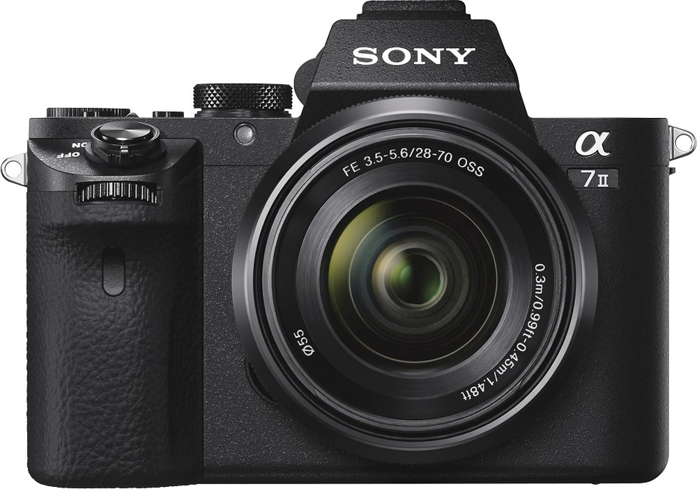 Sony - Alpha a7 II Full-Frame Mirrorless Video Camera with 28-70mm Lens - Black