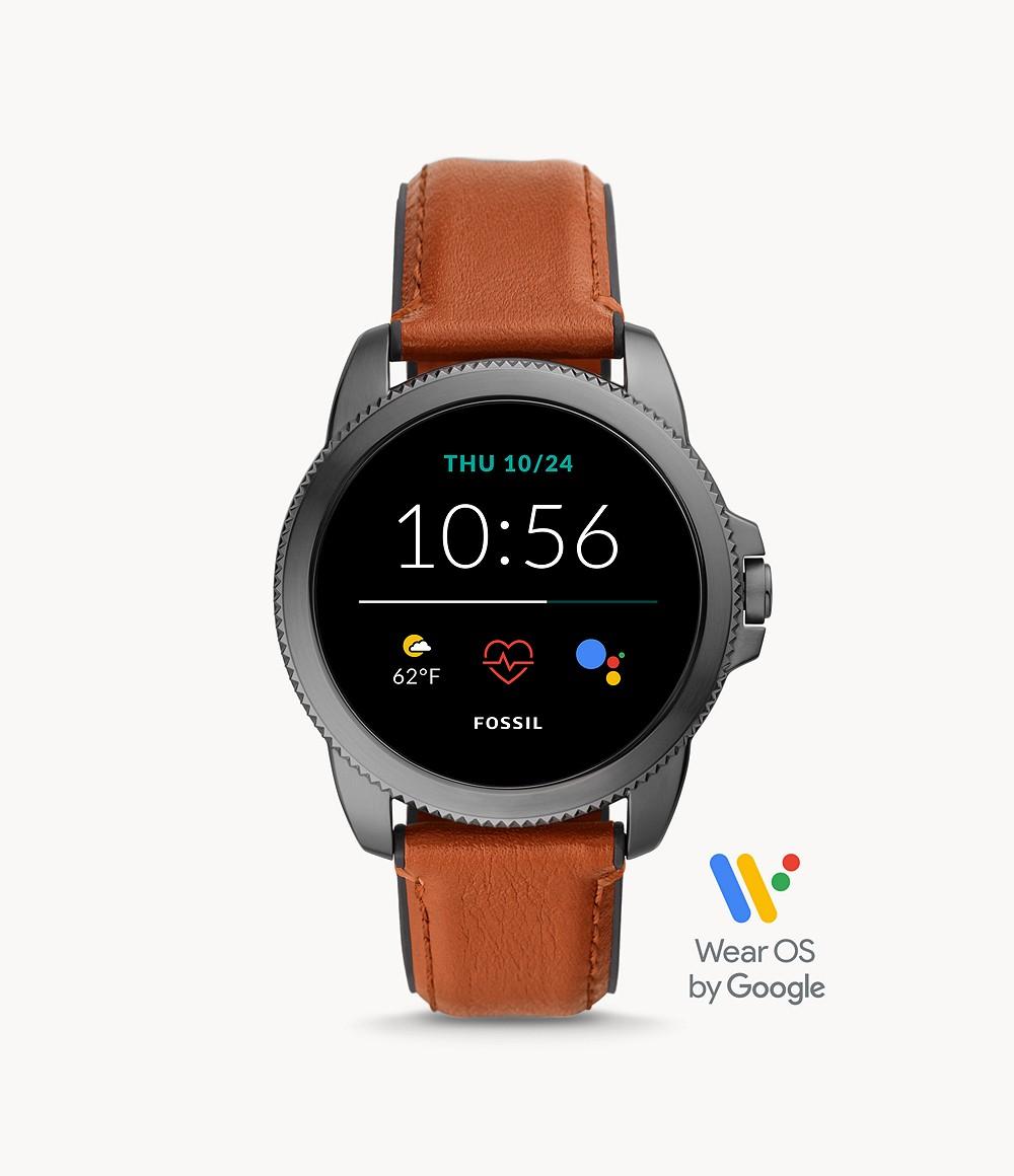 Fossil Men's Gen 5E Smartwatch Brown Leather FTW4055