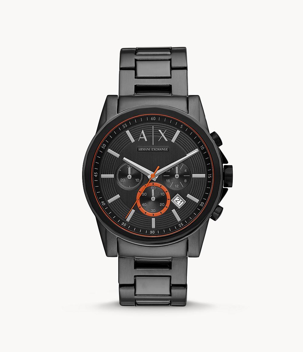 A|X Armani Exchange Chronograph Gunmetal Stainless Steel Watch AX2514