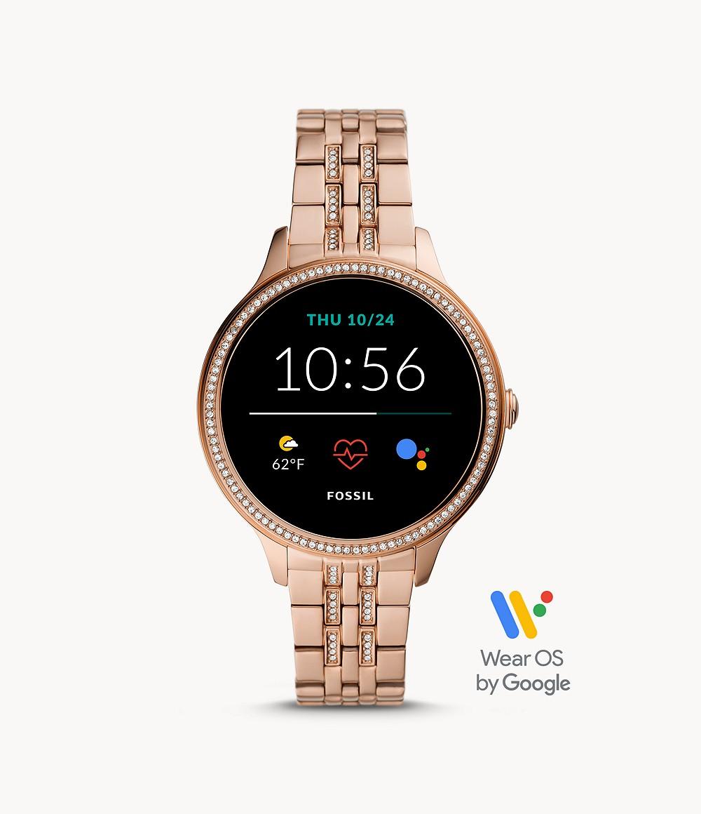 Fossil Women's Gen 5E Smartwatch Rose Gold-Tone Stainless Steel FTW6073