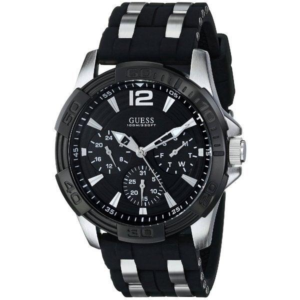 Guess Men's Black Dial Japanese Quartz Chronograph Watch U0366G1