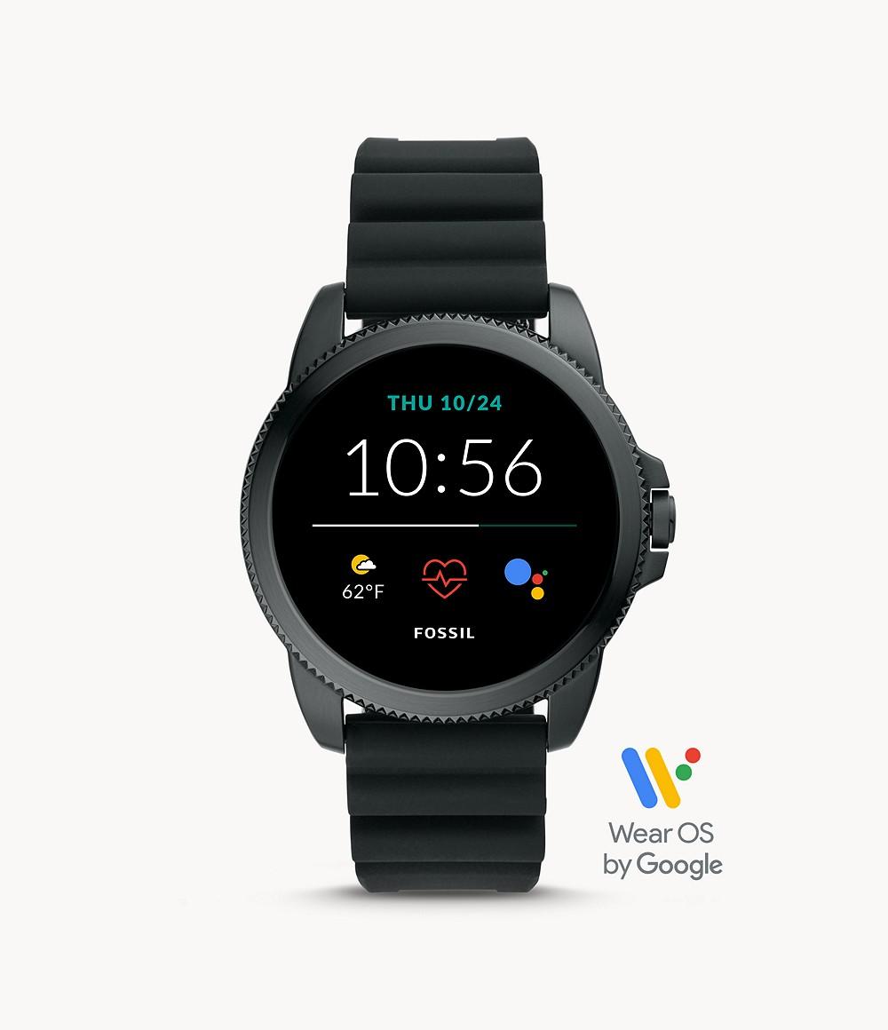 Fossil Men's Gen 5E Smartwatch Black Silicone FTW4047
