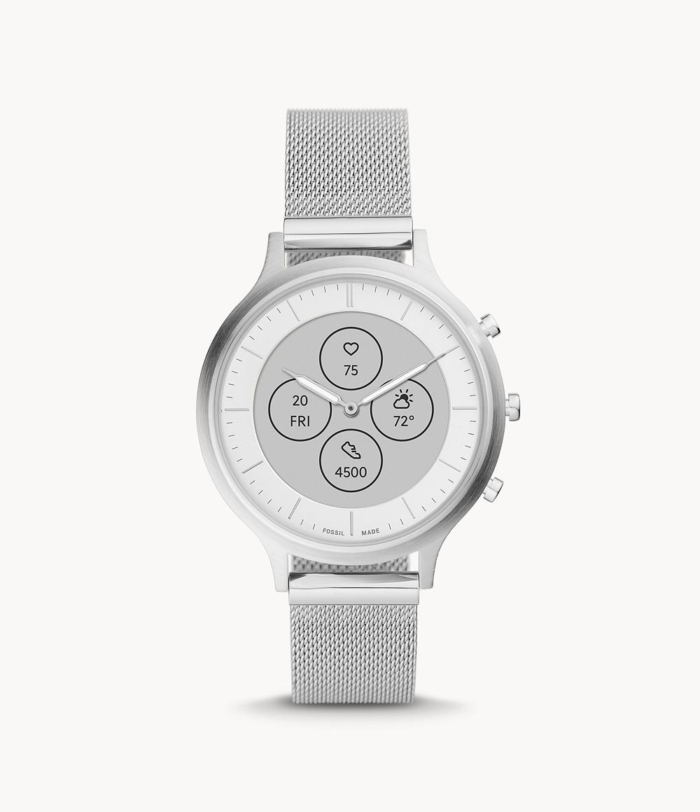 Fossil Women's Hybrid Smartwatch HR Charter Stainless Steel FTW7030