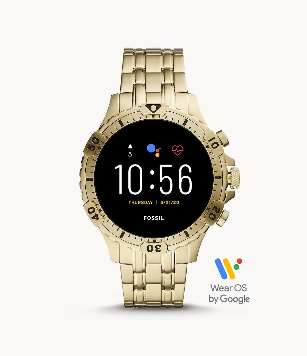Fossil Men's Gen 5 Smartwatch Garrett HR Gold-Tone Stainless Steel FTW4039