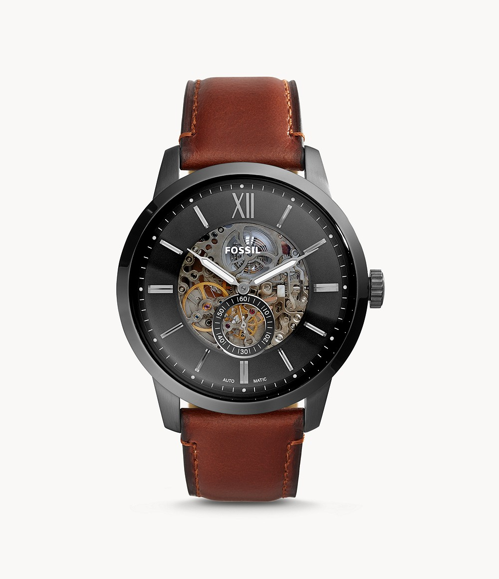 Fossil Men's Townsman Automatic Amber Leather Watch ME3181